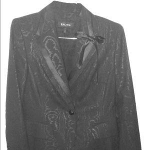 Elegant Escada Black Dinner Jacket. Sz 38